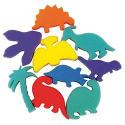 Dinosaur Shapes Sponges Set of 9