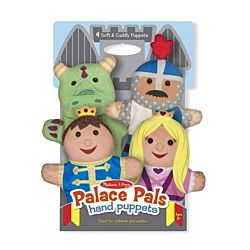 Melissa & Doug Palace Pals Hand Puppets Set of 4 - Prince, Princess, Knight, and Dragon