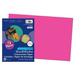 SunWorks Heavyweight Construction Paper, Hot Pink 12