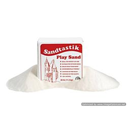 358470 25.-LB-BOX-REG Play Sand, White, Sandtastik