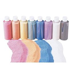 Sandtastik Colored Sand Shaker Top - Set of 8 - 7 oz. jars