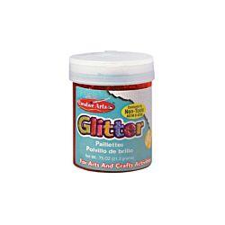 Creative Arts Craft Glitter, 3/4 oz. Bottle, Red