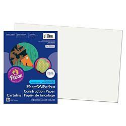 SunWorks Heavyweight Construction Paper, White12