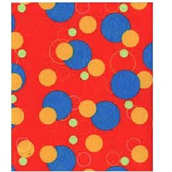 Printed Felt - Geometric Red - 30