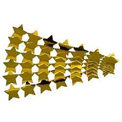 Hygloss, Metallic Star Sticker Strips, Gold