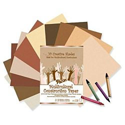 Pacon Multicultural Construction Paper, Assorted Colors, 9-Inches by 12-Inches, 50-Count, 9509