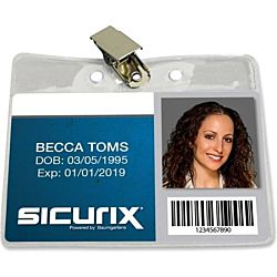 Horizontal Badge Holder With Clip - 2.5