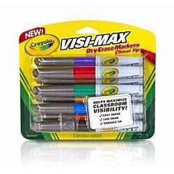 Crayola Dry Erase Markers (8 Count), Visimax BL - 98-8900