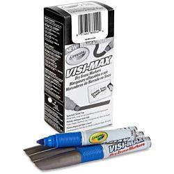 Dry Erase Board Markers, Visi-Max, Chisel Tip, Blue