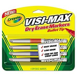 Crayola Dry Erase Markers CFine Tip  (4 Count), Visimax - 98-8901