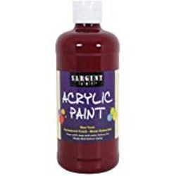 Sargent Art 24-2449 16-Ounce Acrylic Paint,  Deep Rubine Red