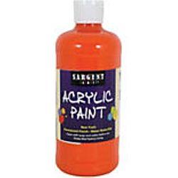 Sargent Art 24-2414 16-Ounce Acrylic Paint,  Spectral Orange