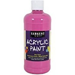 Sargent Art 24-2437 16-Ounce Acrylic Paint,  Rose Magenta