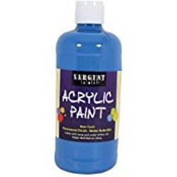 Sargent Art 24-2454 16-Ounce Acrylic Paint,  Spectral Blue