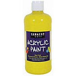 Sargent Art 24-2402 16-Ounce Acrylic Paint,  Spectral Yellow