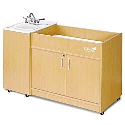 Kiddie Station Diaper Changing Station with Single ABS Sink