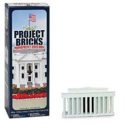 FloraCraft Styrofoam Kits, Make It Fun Project Bricks Sand White Color