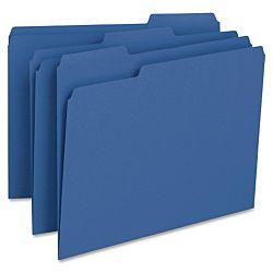 File Folder, 1/3-Cut Tab, Legal Size, Blue ,100 per Box