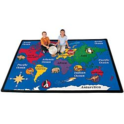World Explorer Classroom Carpet