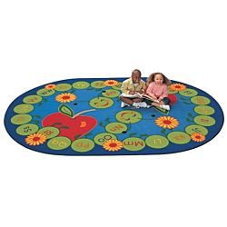 ABC Caterpillar Rug  Oval Shape