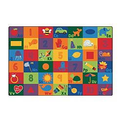 Sequential Seating Literacy Rug 6' x 9' Feet