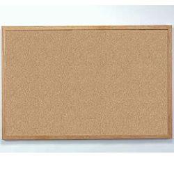 Natural Wood Frame Bulletin Board Cork 36
