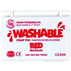 Center Enterprise, Washable Stamp Pads, Red , CE505