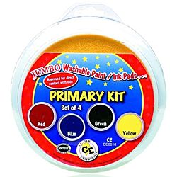 Center Enterprises  Washable paint/Ink Stamp Pads primary set of 4 , CE6616