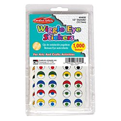 Wiggle Eyes Stickers - Assorted - 1000/pkg.