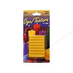 Yaley Candle Dye Block 3/4oz Yellow Color