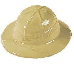 Children Plastic Safari Hats, Pack of 12