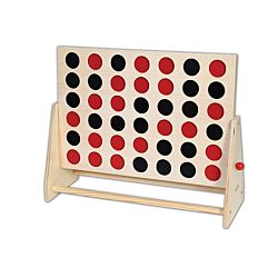 Large Wooden 4 In A Row Game