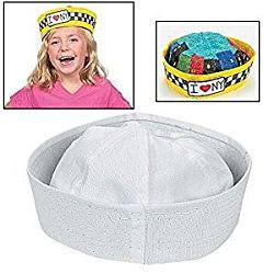 DIY Value White Sailor Hats To Decorate - 12 pcs.