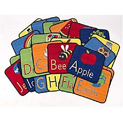 Carpets Alphabet Seating Squares, 16
