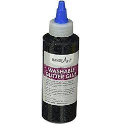 Handy Art Washable Glitter Glue Black, 8-Ounce
