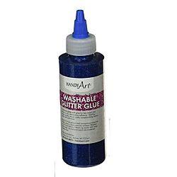 Handy Art Washable Glitter Glue Blue, 8-Ounce