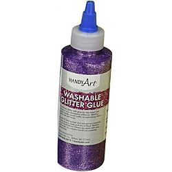 Handy Art Washable Glitter Glue Purple, 8-Ounce