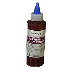 Handy Art Washable Glitter Glue Red, 8-Ounce