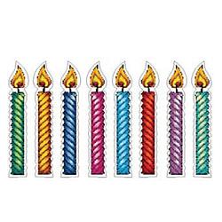 Judaica pre cut cardstock  Colorful Candle Set