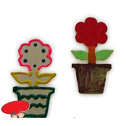 Flower Pot Wooden Cutouts