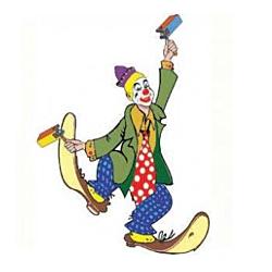 Judaica Card Stock Cutouts Purim Clown