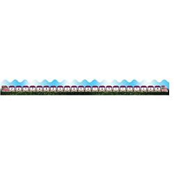 Judaica Aleph-Bet Train  pre-cut trimmers Pack of 10