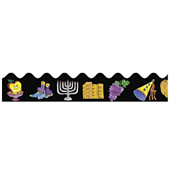 Judaica Months of the Year  pre-cut trimmers Pack of 10