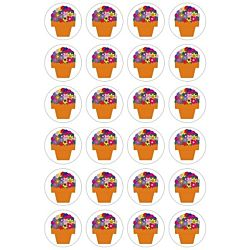 Hygloss Flower Pots Stickers - 20 Sheets Stickers (18851)