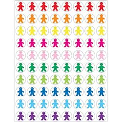 Hygloss Rainbow People Stickers 1/2