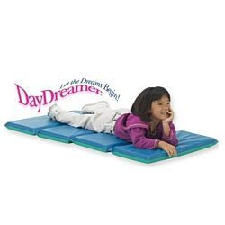 Vinyl 2'' Thick Foldable DayDreamer Rest Mat - Blue and Teal, Carton Of 6