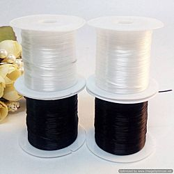 White Elastic Stretch Beading Cord Roll 30 Yard
