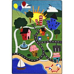 Happy Town Classroom Rug