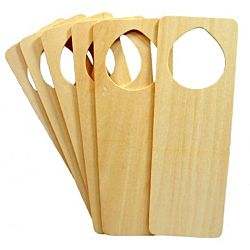 Darice Decorate Blank Natural Wood Door Knob Hangers, Pack of 6