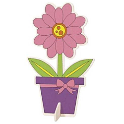 Darice Wood Kit with Markers Flower